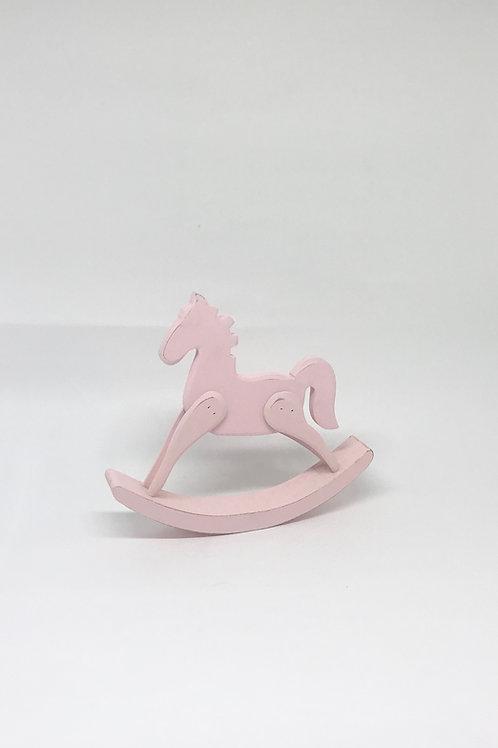 Cavalinho de balanço rosa