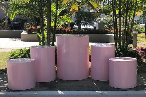 Conjunto 5 cilindros rosa