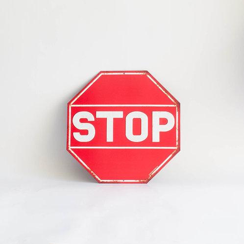 Placa Stop vintage
