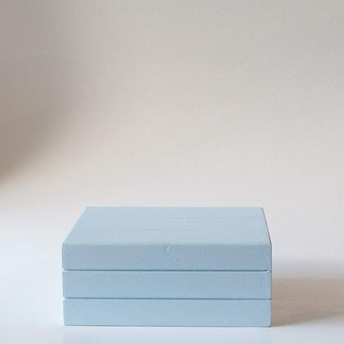 Caixa Teca azul claro