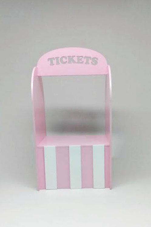 Caixa ticket circo rosa