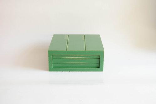 Caixa madeira Geta P verde musgo
