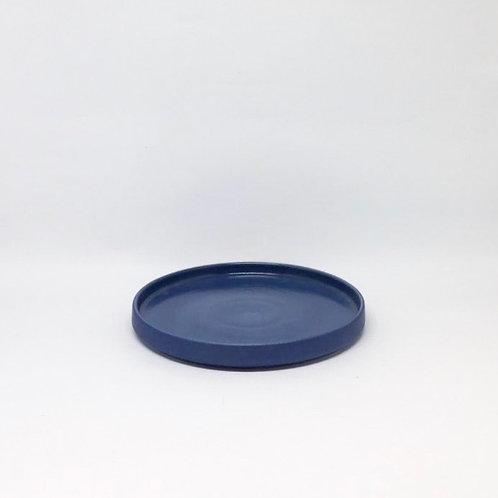 Bandeja redonda azul