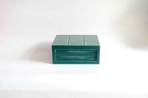 Caixa madeira Geta P verde petroleo