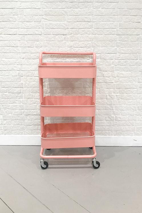 Carrinho industrial rosa