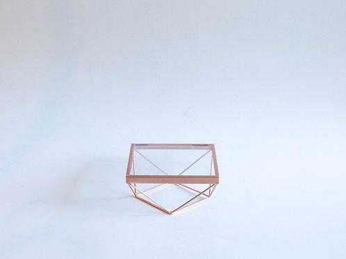 Bandeja Triângulos P cobre