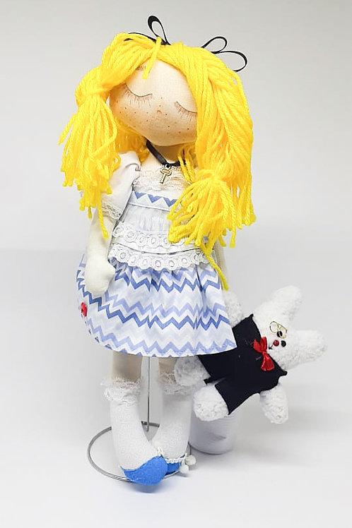 Boneca tecido Alice (Alice no pais das maravilhas)
