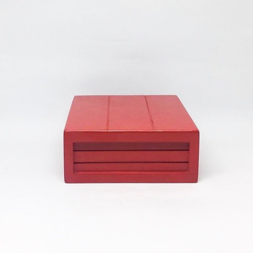 Caixa madeira Geta P vermelha
