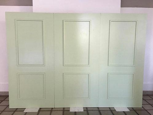 Painel Boiserie verde claro 3m