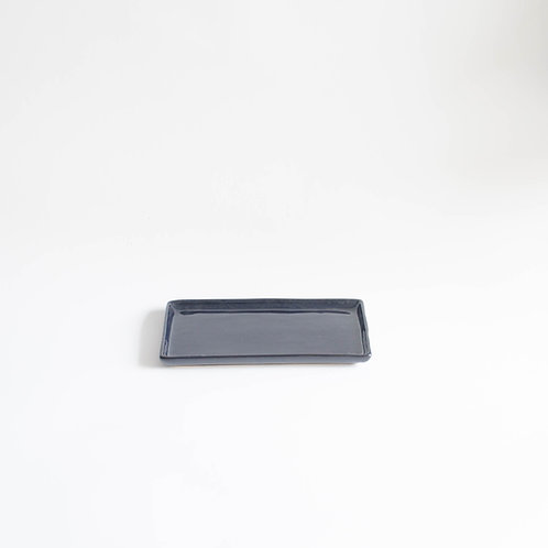 Bandeja Clean retangular preto