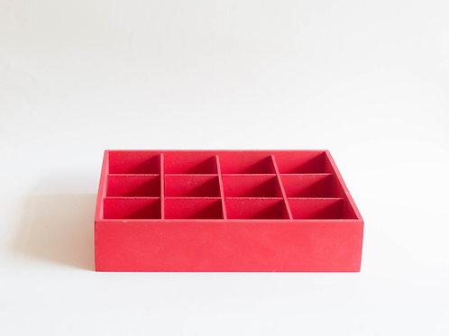 Caixa porta garrafas vermelha
