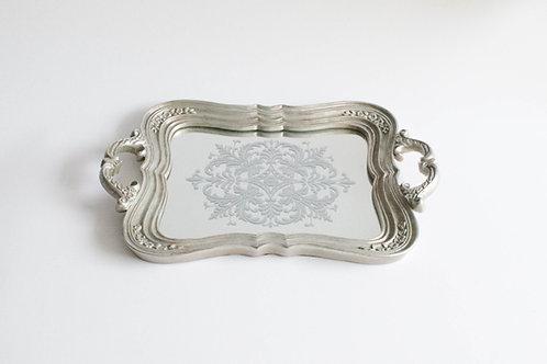 Bandeja Versailles prata com espelho