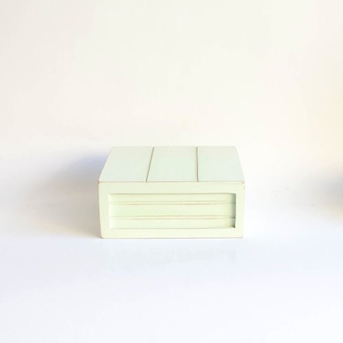 Caixa madeira Geta P verde claro