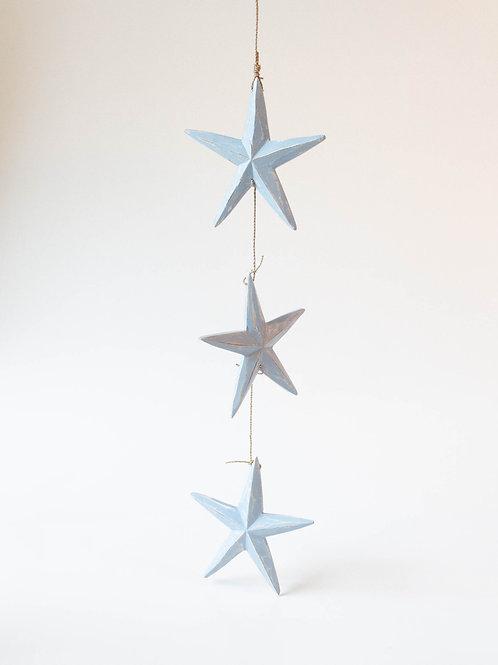 Cordão de estrelas azul