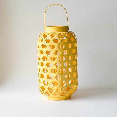 Lanterna de palha amarela