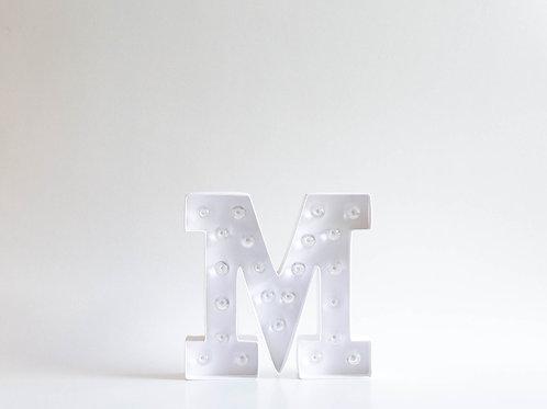 "Luminoso Letra ""M"""