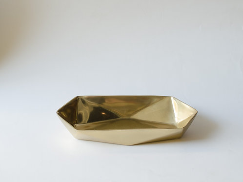 Bandeja prisma dourada