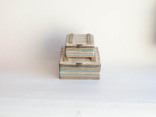 Conjunto caixas Listras wood