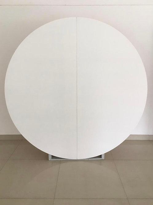 Painel redondo branco (2m)