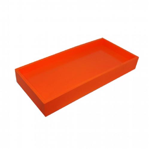 Bandeja Laqueada laranja neon