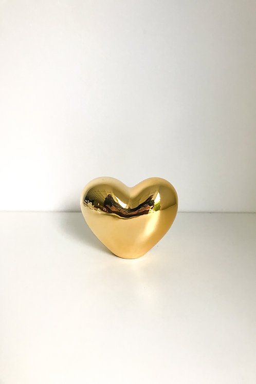 Coração M dourado