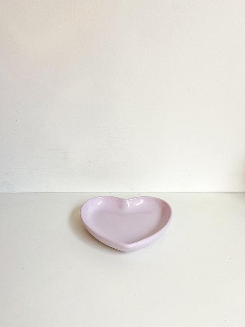 Bandeja coração lilás