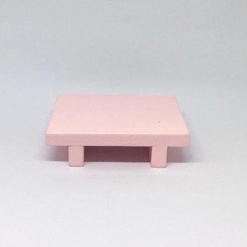 Bandeja madeira Geta PP rosa