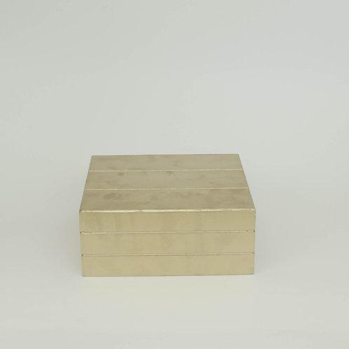 Caixa  Teca dourada