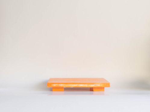Bandeja madeira Geta M laranja