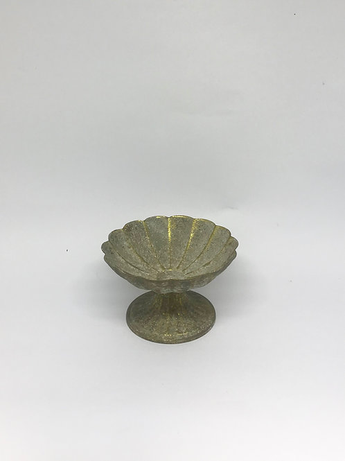 Bowl Pétala rústico dourado