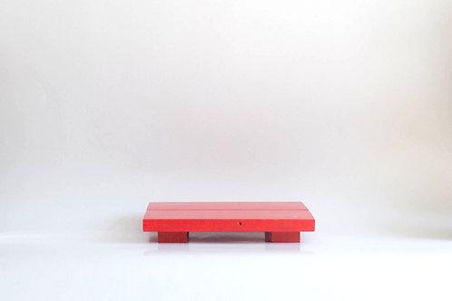Bandeja madeira Geta M vermelho