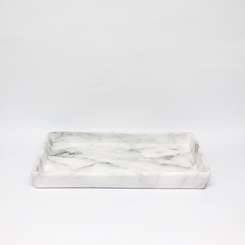 Bandeja retangular mármore