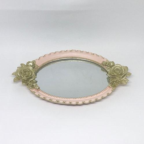 Bandeja princesa oval rosa