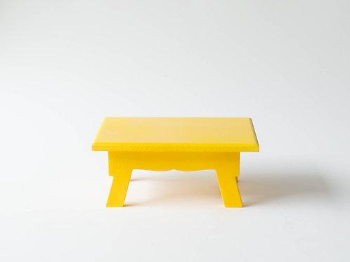 Mini banco Sofia amarelo