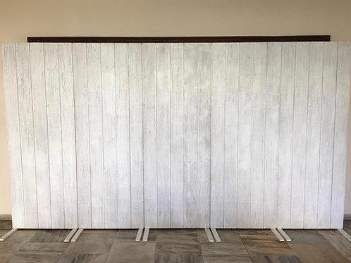 Painel madeira Patina branca