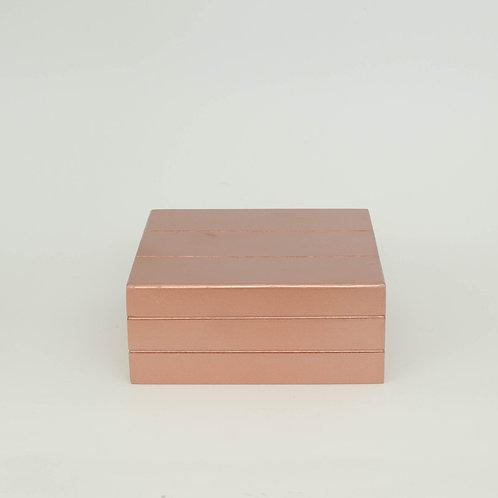 Caixa  Teca cobre