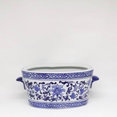 Vaso azul e branco G