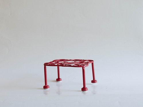 Mini mesa aramada P vermelha