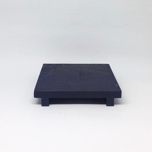 Bandeja madeira Geta P azul escuro