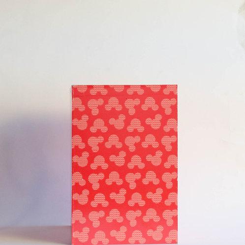 Caixa estampa Mickey vermelha