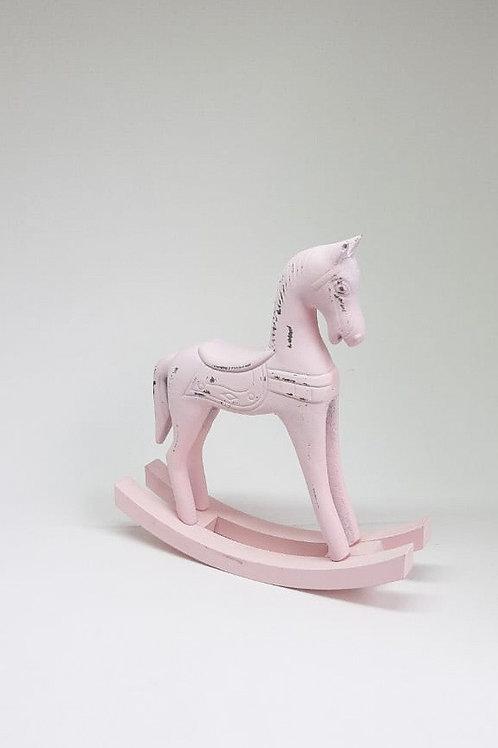 Cavalinho de balanço M rosa