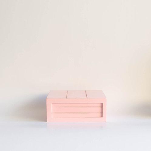 Caixa madeira Geta P rosa