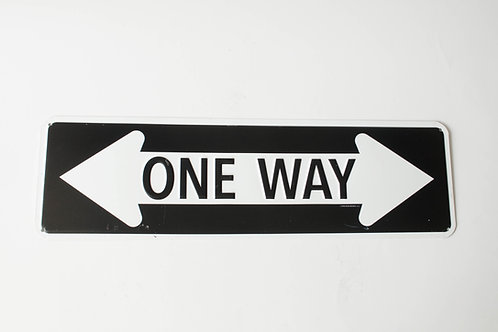 "Placa setas ""one way"""