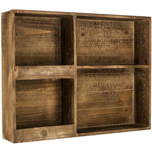 Estante madeira 4 nichos
