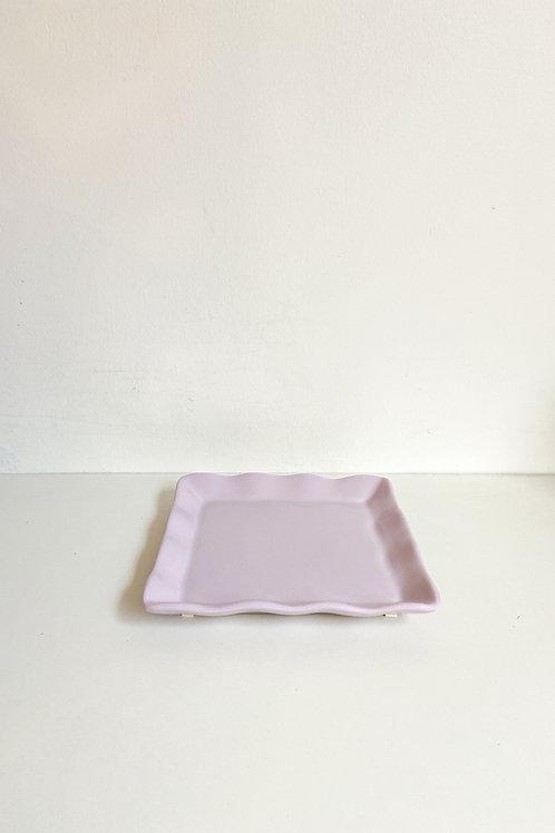 Bandeja Babados quadrada lilás