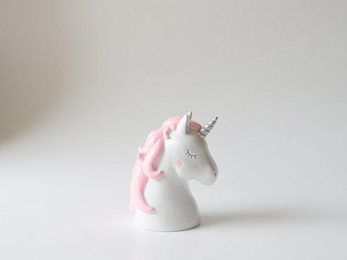 Busto unicórnio rosa