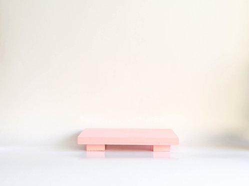 Bandeja madeira Geta M rosa claro