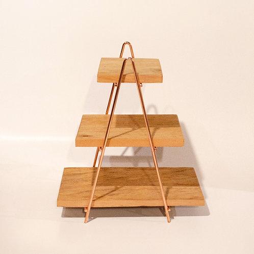 Escada Clássica madeira e cobre
