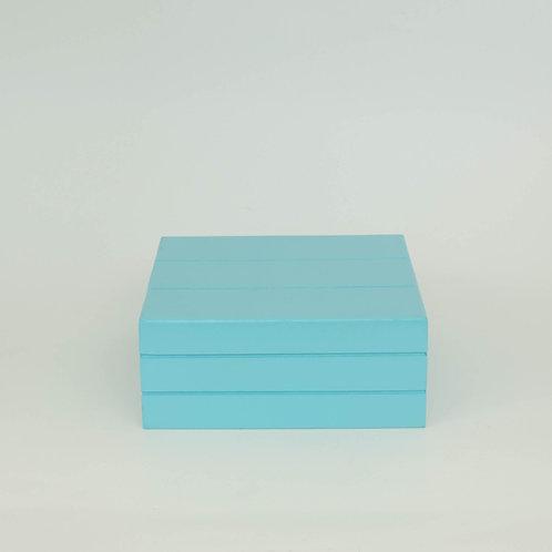 Caixa Teca azul médio