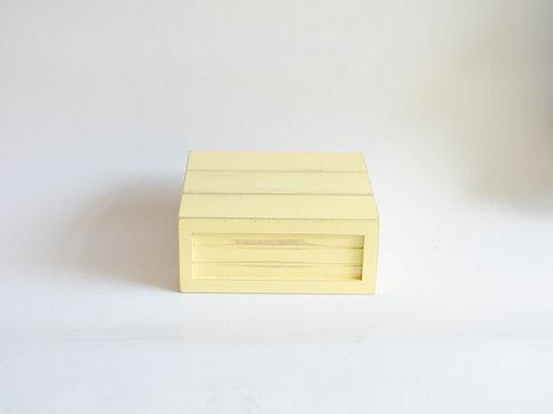 Caixa madeira Geta P amarelo claro